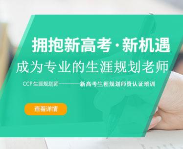学校生涯教育解决方案——新高考CCP国家生涯规划师认证培训